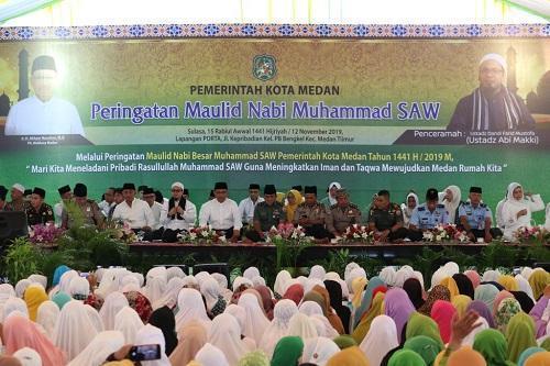 Pemko Medan Gelar Peringatan Maulid Nabi Muhammad 1441 H di Medan Timur