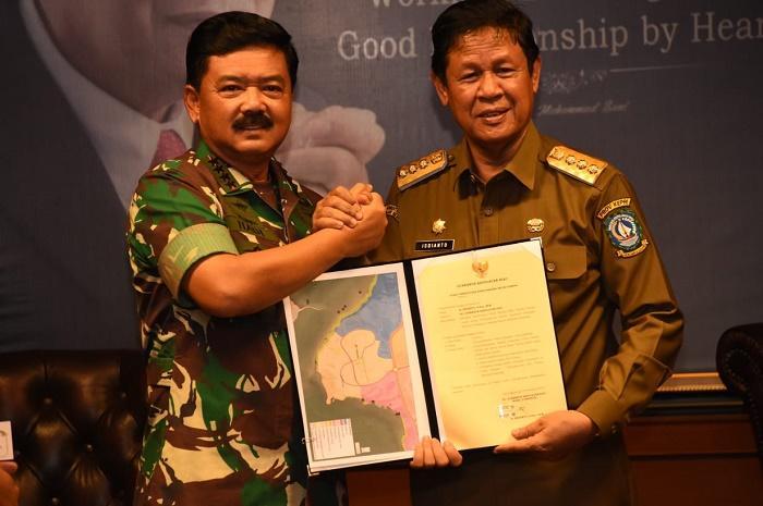 Panglima TNI Terima Hibah Lahan Pembangunan Makogabwilhan I