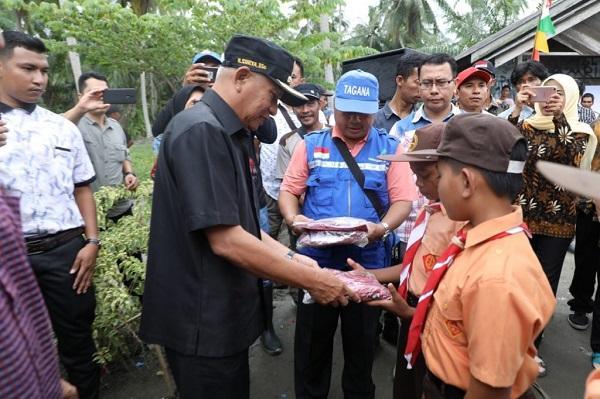 Pemkab Asahan Berikan Bantuan Korban Bencana Banjir di Desa Lubuk Palas