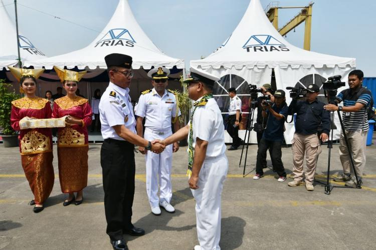 Bakamla RI Sambut Kedatangan Indian Coast Guard Shaurya 16