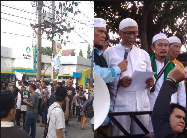 Ratusan Personil APMAS Demo Kantor Perumnas I Helvetia, Kasus Perusakan Mesjid Amal Silaturahim