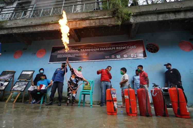 VRI Sumut, PFI Medan, Teratai Rescue, STFJ, Artifacts, PPPKS dan Dinas P2K Medan Bersinergi Gelar Edukasi Kebencanaan