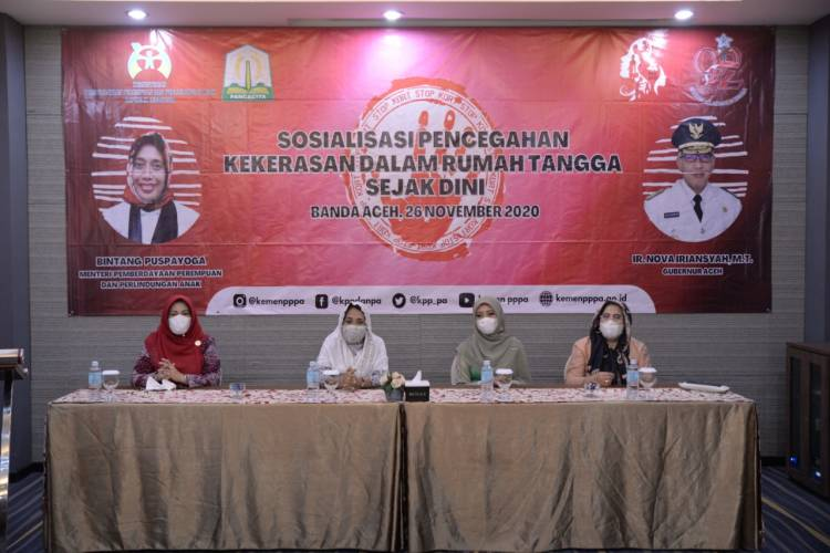 Menteri Bintang Ajak Kaum Millenial di Banda Aceh Cegah KDRT Sejak Dini