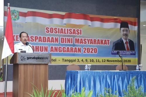 Jelang Pilkada 2020, Pjs Wali Kota Medan Buka Sosialisasi Kewaspadaan Dini Masyarakat
