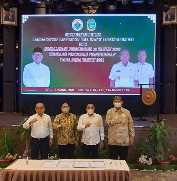 KADIN Sumut Teken MoU Optimalisasi Pembangunan dan Pengembangan Wilayah Desa