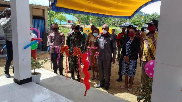 Peresmian Kantor Bamuskam, Satgas Yonif MR 413 Kostrad Jamin Keamanan Kampung Koya Koso