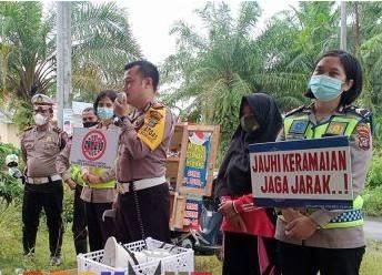 Roadshow Kedai Murah, Polres Sergai Ajak Masyarakat Terapkan Prokes