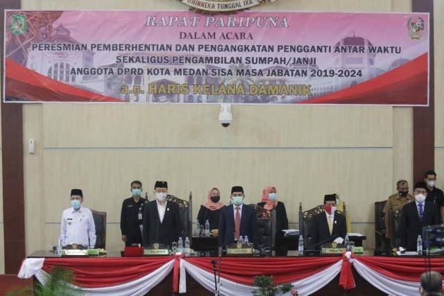 Pjs Wali Kota Medan Hadiri Sidang Istimewa Pelantikan PAW Anggota DPRD Medan
