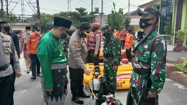 Wakil Bupati Oky Ikbal Frima Pimpin Apel Penanggulangan Bencana di Mapolres Batubara