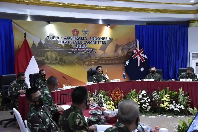 Panglima TNI bersama CDF Australia Pimpin Sidang ke-8 AUSINDO HLC Tahun 2020