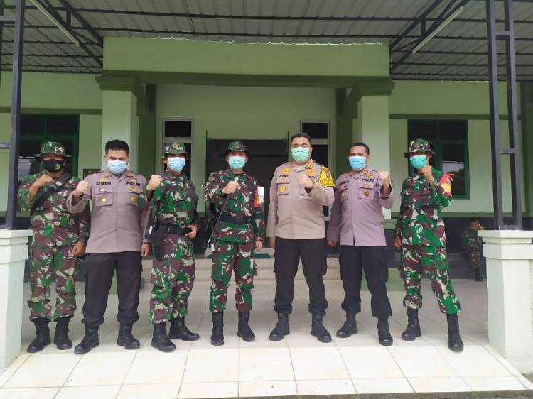 Kapolrestabes Medan Kunker ke Markas Yon Zipur 1/DD di Jalan Kapten Muslim Medan