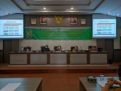 Balitbang Kota Medan Gelar FGD Inovasi Pelayanan Publik Kependudukan dan Catatan Sipil Berbasis Elektronik