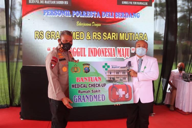 Kunker ke Mapolresta Deli Serdang, Kapolda Sumut Resmikan Medical Check Up
