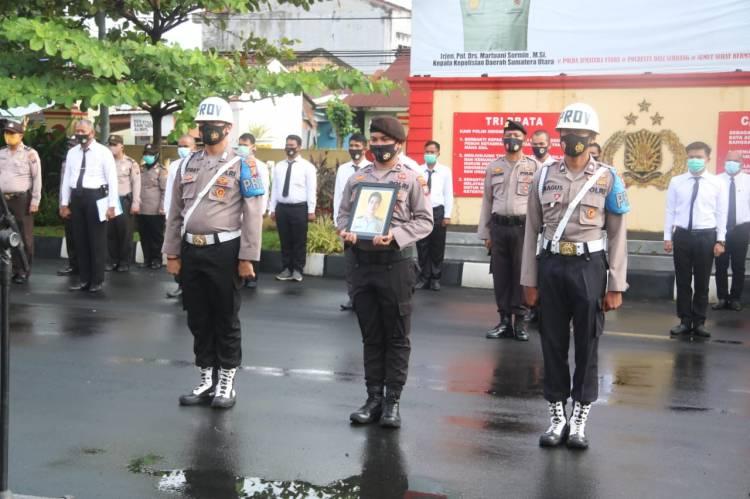 Wakapolresta Deli Serdang Pimpin Upacara PTDH Bripka FS