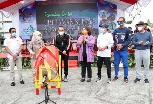 Gubernur Edy Rahmayadi Resmikan Kantor Baru Taman Budaya Sumut di PRSU