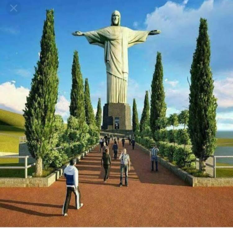 Rapidin Simbolon Optimis Patung Kristus di Bukit Sibeabea Samosir Dapat Saingi Brazil