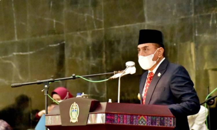 Rapat Paripurna DPRD Sumut, Gubernur Edy Rahmayadi Sampaikan Nota Keuangan RAPBD 2021
