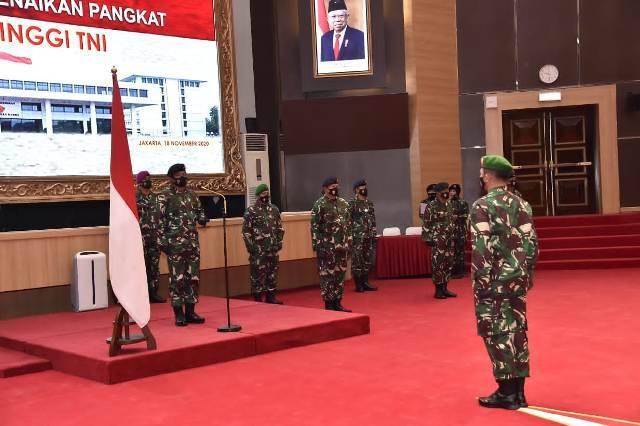 Panglima TNI Terima Laporan Korps Kenaikan Pangkat 11 Perwira Tinggi