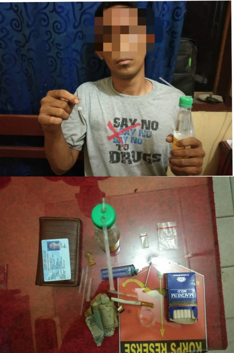 Polsek Tanjung Morawa Amankan Pria Penyalahgunaan Narkoba