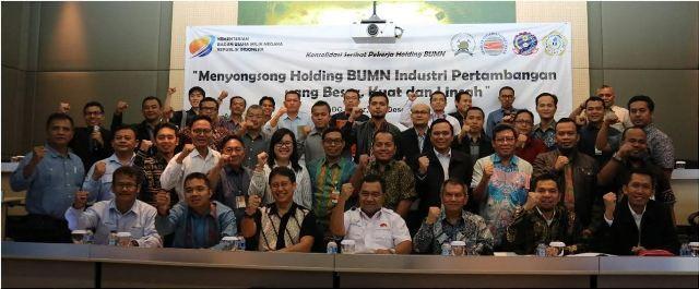 Serikat Pekerja BUMN Industri Pertambangan Kawal Pembentukan Holding