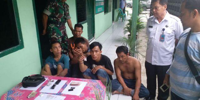 Digerebek, 6 Pelaku Narkoba Diamankan Unit Intel Kodim 0203/Langkat