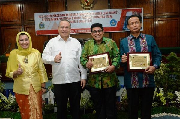 Pemprovsu Sosialisasi Perda Pengutamaan Bahasa Indonesia dan Perlindungan Bahasa Daerah