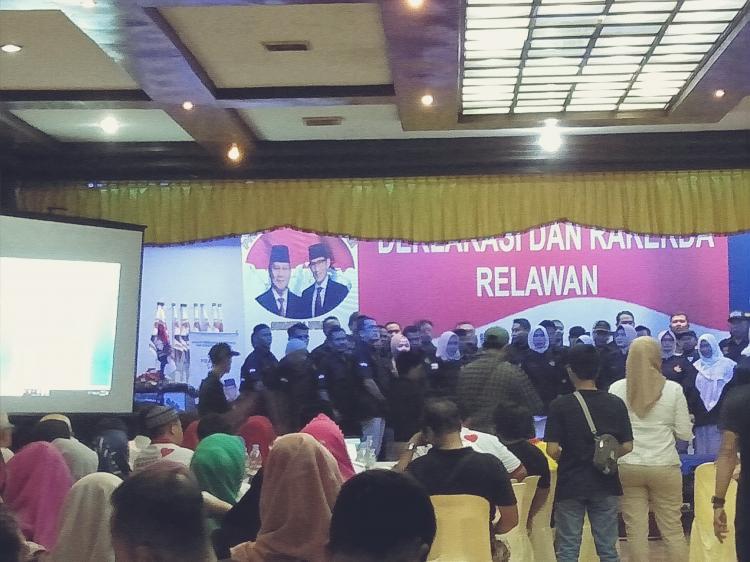Relawan Prabowo bErsama SANdi Gelar Deklarasi dan Rakerda