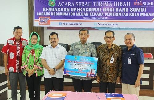 Pemko Medan Terima Hibah Kendaraan dari Program CSR PT Bank Sumut