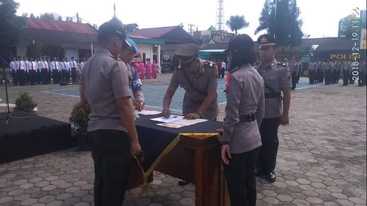 Sertijab Kapolsek Simpang Empat Dipimpin Kapolres Tanah Karo