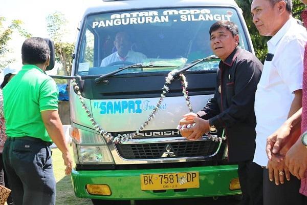 Wabup Samosir Launching Sampri Eksekutif Trayek Bandara Silangit-Pangururan
