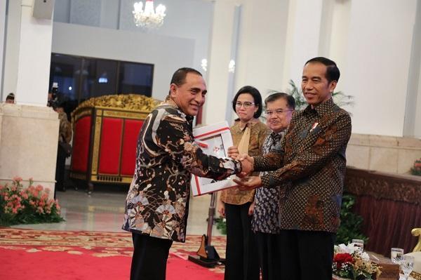 Gubsu Terima DIPA dan TKDD 2019 dari Presiden Jokowi, Sumut dapat Alokasi Rp 43 Triliun Lebih