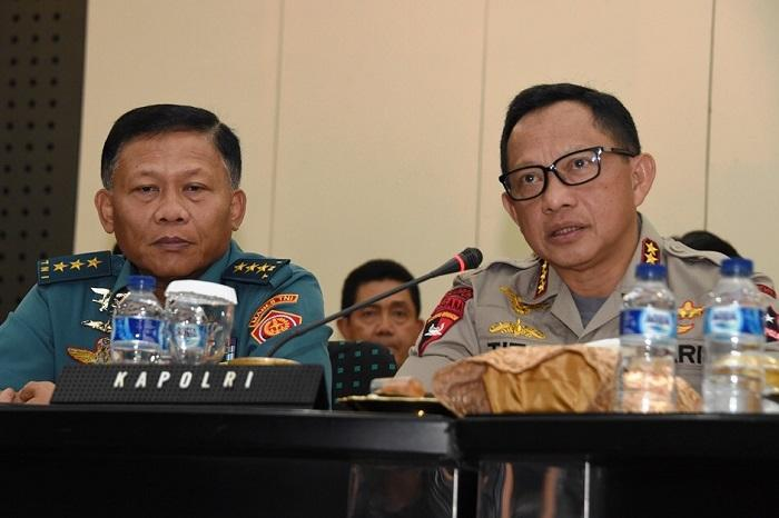 Kasum TNI Hadiri Video Conference di Mabes Polri