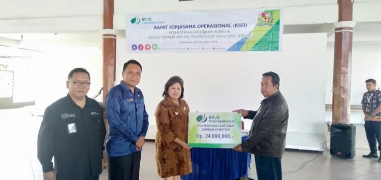 Bupati Karo Perintahkan Seluruh Kades Tampung Iuran BPJS Ketenagakerjaan bagi Aparat Desa pada APBDES 2019