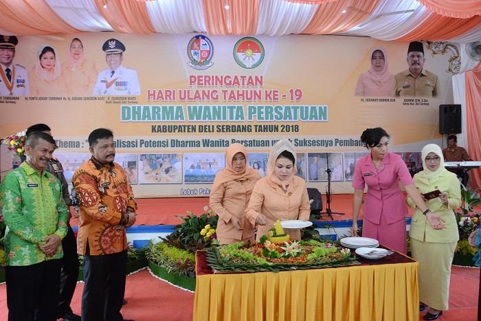 Kabupaten Deli Serdang Rayakan HUT Dharma Wanita Persatuan ke-19