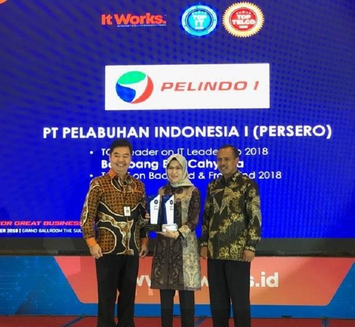 Digitalisasi Pelabuhan Pelindo 1 Raih Dua Penghargaan dari TOP IT TELCO 2018
