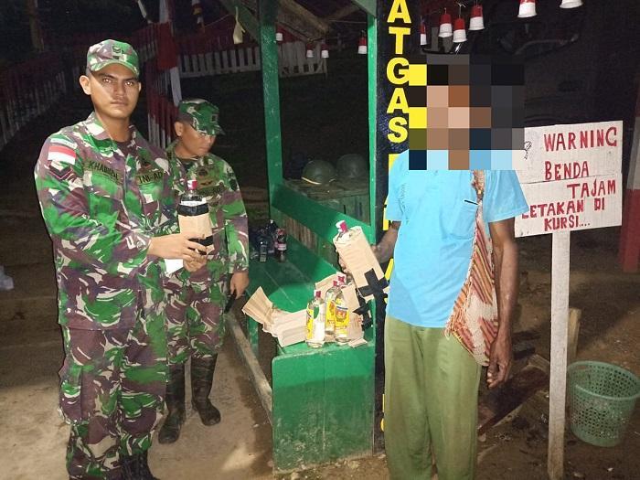 Jelang Pergantian Tahun, Satgas Pamtas Yonif 126/KC Sweeping Wilayah Hukumnya