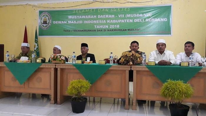 Danramil 06/LP Hadiri Musda VII Dewan Masjid di Lubuk Pakam