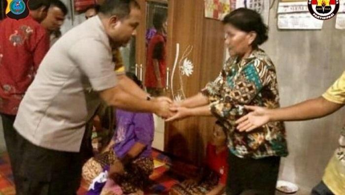 Kapolres Sergai Melayat ke rumah Warga Sergai Korban Penembakan OPM di Papua