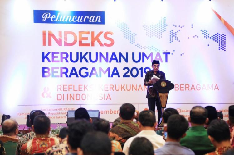 Kementerian Agama Rilis Indeks Kerukunan Umat Meningkat di Tahun 2019