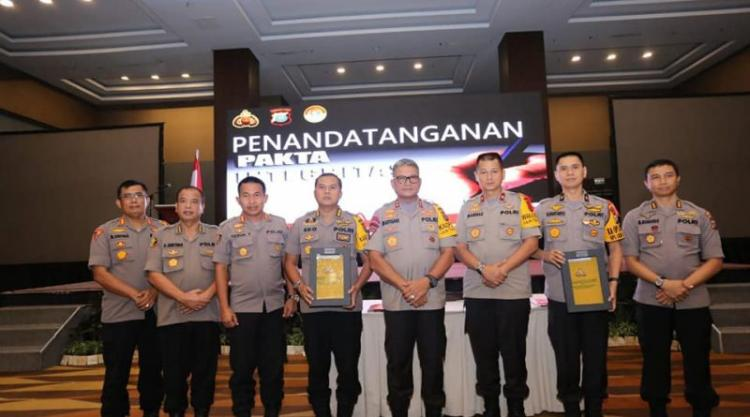 Kapolda Sumut Teken Pakta Integritas dan Penyerahan DIPA RKA KL Tahun 2020