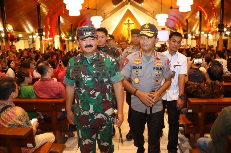 Panglima TNI dan Kapolri Cek Situasi Gereja-Gereja di Jakarta