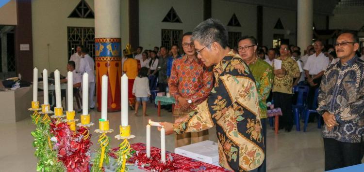 Bupati Nias Selatan Hadiri Perayaan Natal Gereja Bala Keselamatan Se-Distrik Nias