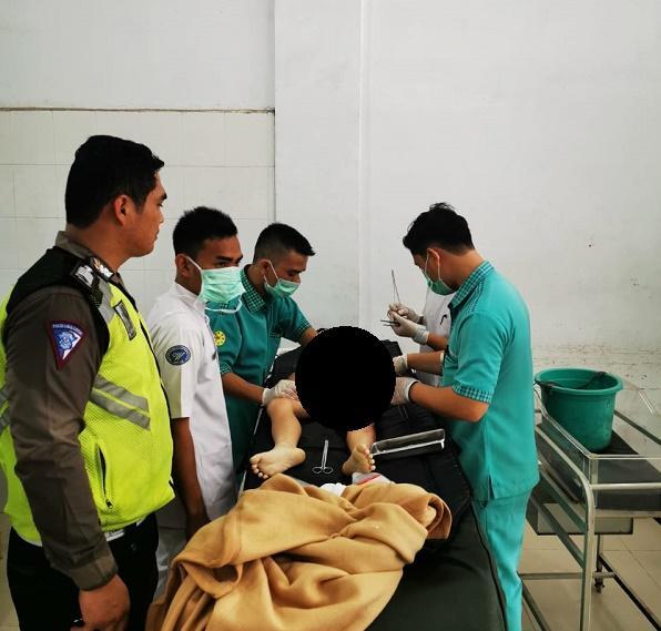 Bocah 7 Tahun Tewas Ditabrak Truk Saat Dibonceng Ibunya di Jalan TB Simatupang Medan
