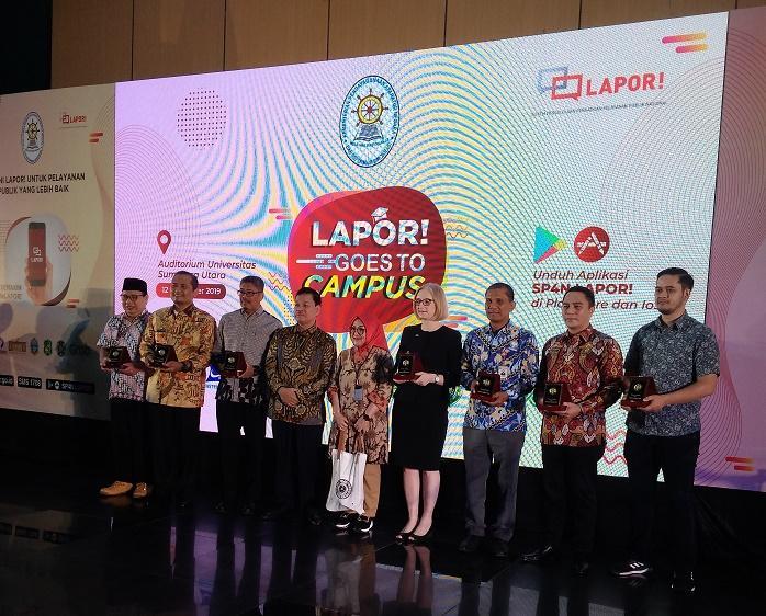 SP4N LAPOR Diluncurkan di USU, Mahasiswa Harus Jadi Agen Perubahan Pelayanan Publik