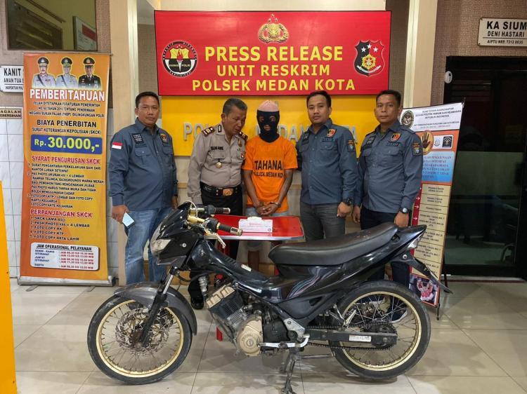 Dua Bulan Buron, Polsek Medan Kota Tangkap Pencuri Sepeda Motor di Katamso
