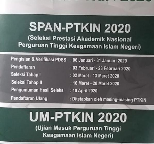 Kemenag Buka Seleksi Masuk Perguruan Tinggi Keagamaan Islam Negeri Pada Februari 2020