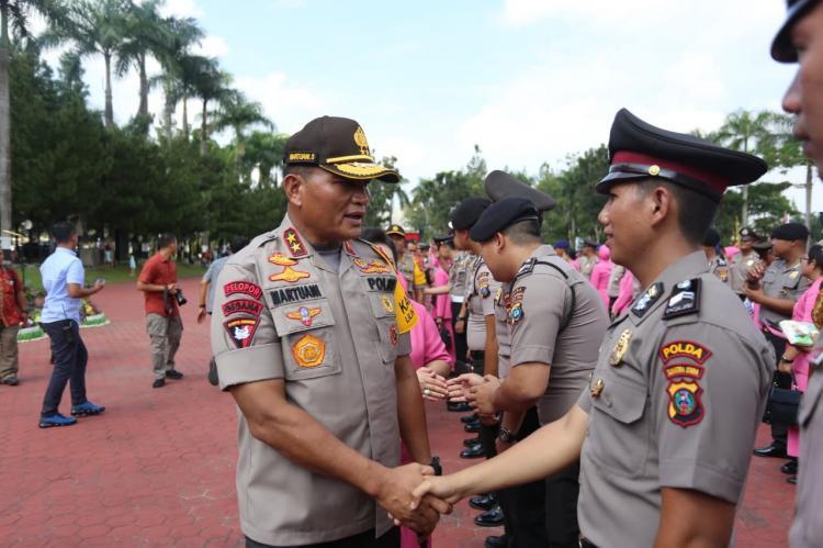 2.097 Personel Jajaran Polda Sumut Naik Pangkat di Akhir Tahun 2019