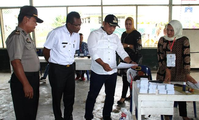 Bupati dan Ketua DPRD Labuhanbatu Monitoring Pilkades Serentak
