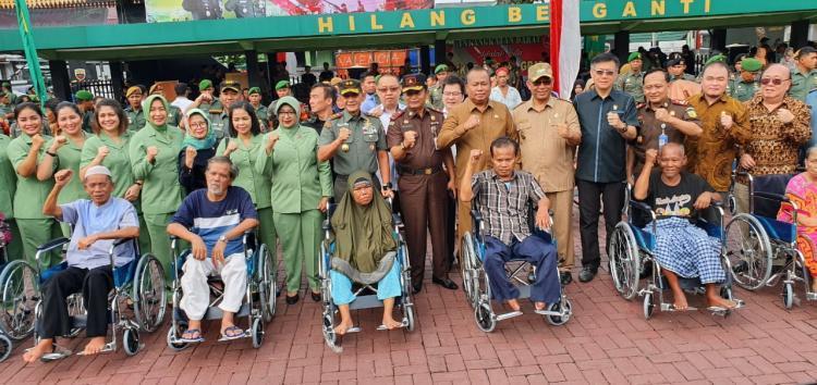 Plt Wali Kota Medan Hadiri Bakti Sosial dan Kesehatan Kodam I/BB di Lapangan Benteng