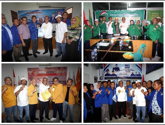 Akhyar Nasution Daftar ke 4 Partai, Pakai Kaos Kampanye #AyokBikinCantikMedan